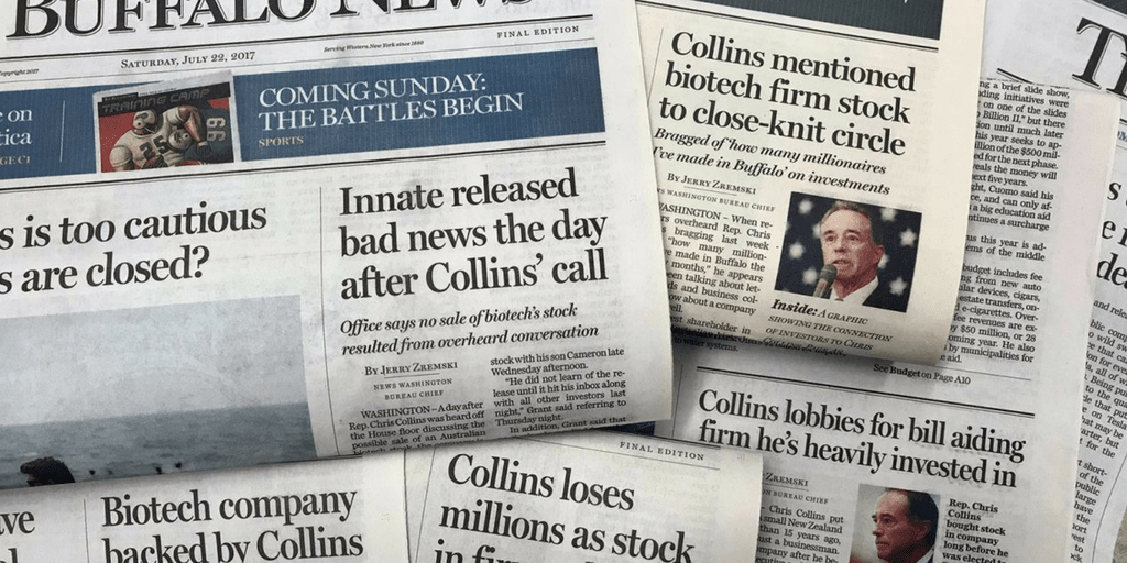 The Briefing: The Chris Collins, Innate coverage began with a lie